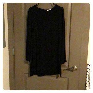 Long Sleeve Black Mini Dress from JustFab